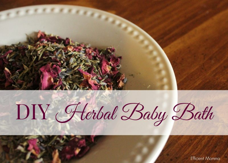 DIY Herbal Baby Bath