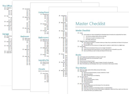 master checklist download