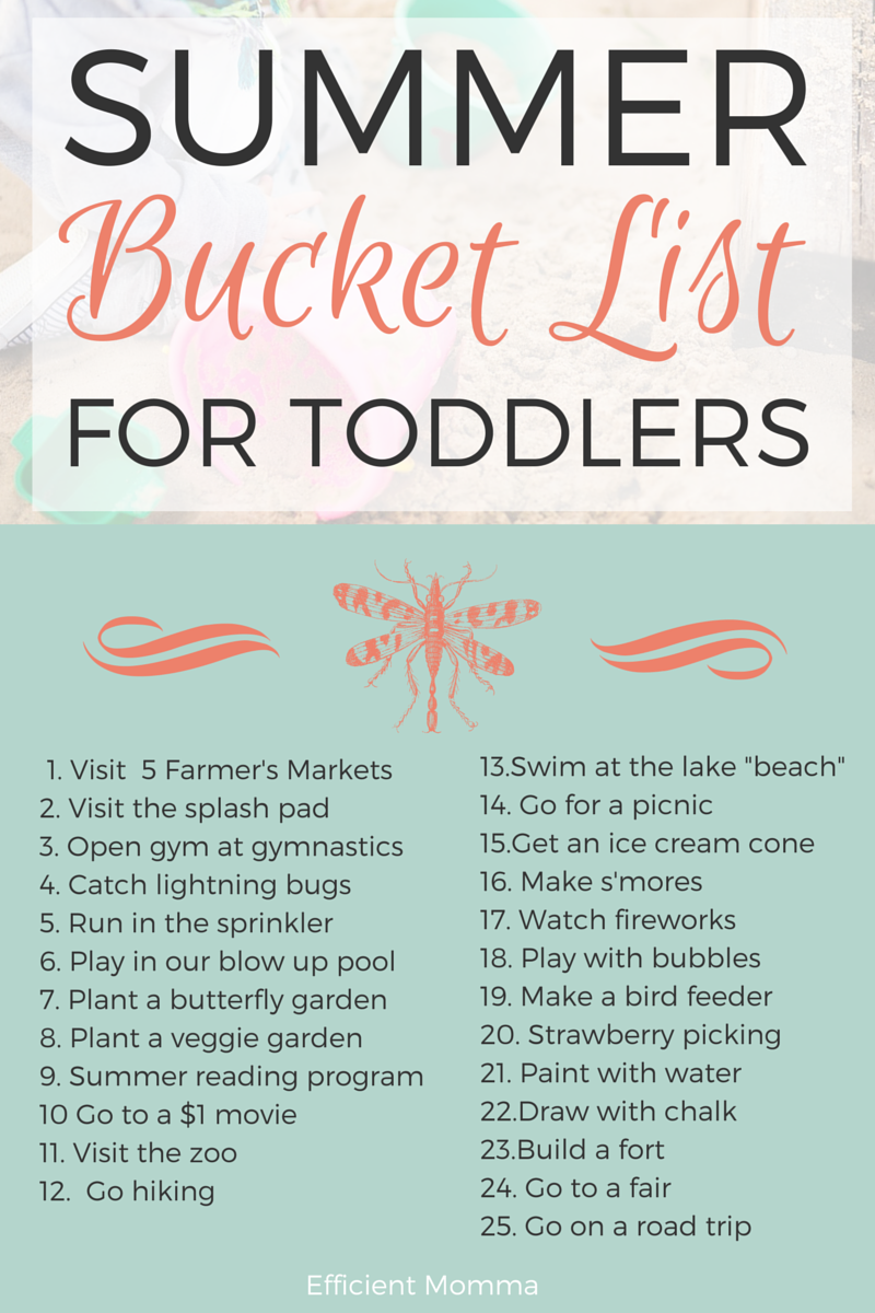 Summer Bucket List For Toddlers Efficient Momma