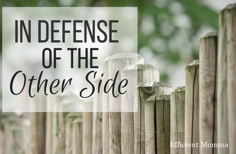 in defense of the other side
