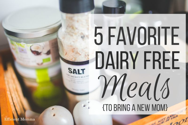 5 Favorite Dairy Free Meals to bring a New Mom