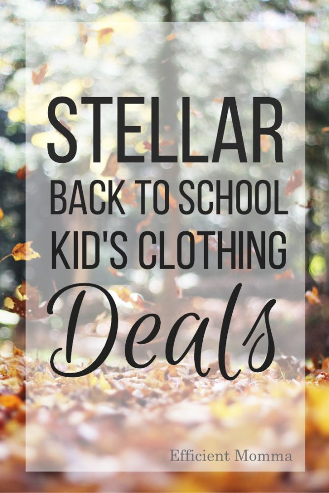 Stellar Back to School Kid's Clothing Deals