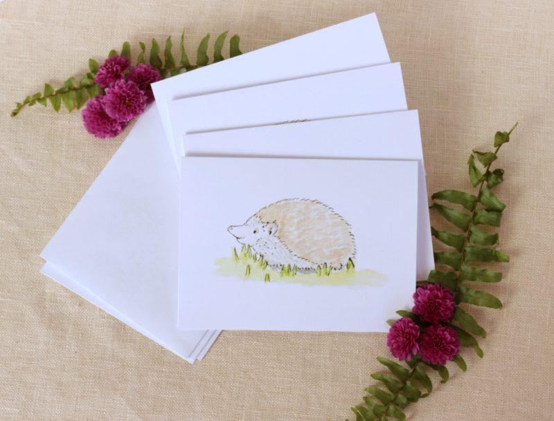 Pebble Creek Prints Hedgehog Note Cards